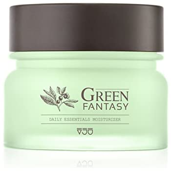 VJU GREEN FANTASY Facial Moisturizer Day and Night Cream for All Skin Types. 1.7 fl.oz Korean Beauty K-Beauty