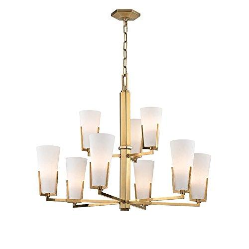 Hudson Valley Lighting 1809-AGB Nine Light Chandelier, 9, Aged Brass