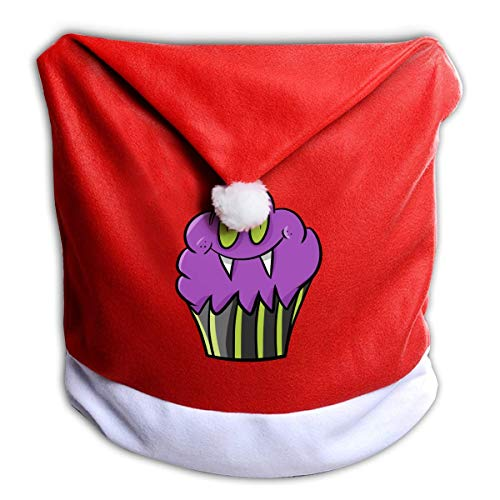 Halloween Birthday Cupcake Non-Woven Xmas Christmas Themed Dinner Chair Cap Hat Covers Set Ornaments Backers Protector for Seat Slipcovers Wraps Coverings Decorations -
