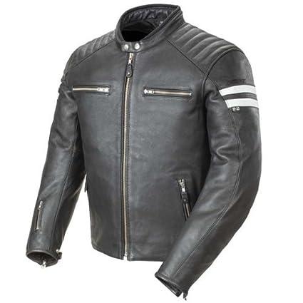 f4d34e991 Amazon.com: Joe Rocket 1326-1003 Classic '92 Men's Leather Motorcycle Jacket  (Black/White, Medium): Automotive