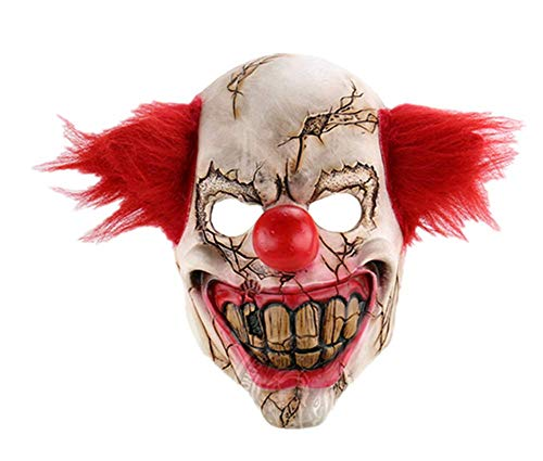 ZHOUXUELI Horror Ghost Face Clown Halloween Christmas Engaged Bar Dance Party Props Strange Latex Scary Mask
