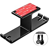 Headphone Hanger Headset Stand New bee Under Desk Dual Aluminum Headphone Hook Mount with Cable Organizer for All Headphones