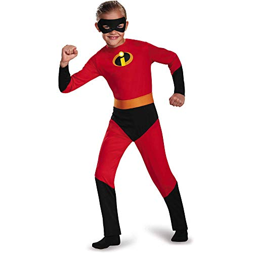 Incredibles 2 Dash Child Halloween Costume Boys Small 4-6 Jumpsuit, Belt and Eye Mask -