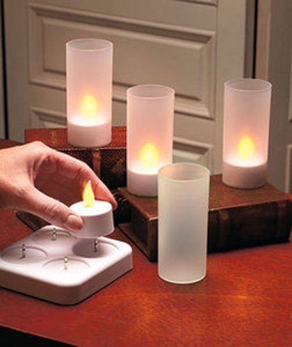 Lily S Home Led Rechargeable Flameless Tea Light Candles With Difused Votives Set Of 4 By Lily S Home Amazon In Health Personal Care