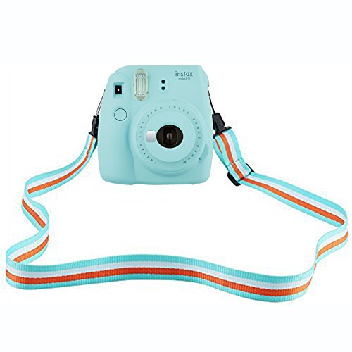 SAIKA Camera Shoulder Strap for Fujifilm Instax Mini 9 / 8 / 8+ / 7s / 25 / 26 / 50s / 70 / 90 Instant Camera, Adjustable Belt Neck Strap for Polaroid Camera and Digital Camera