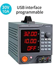HANMATEK Programmable DC Power Supply, (0-30 V 0-10 A) Variable Linear Regulated Power Supply Digital with PC Software and USB Interface HM310P