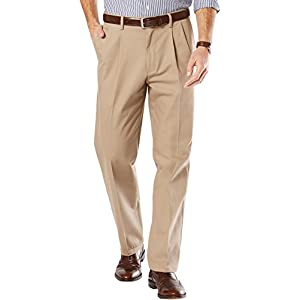 Dockers Men's Big and Tall Signature Khaki Pleated Pant