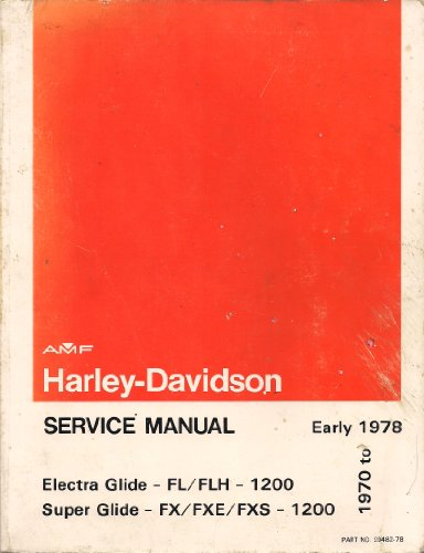 Harley-Davidson Service Manual 1970 to Early 1978 (Electra, used for sale  Delivered anywhere in USA