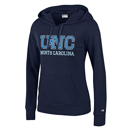 (Champion NCAA Women's Comfy Fitted Sweatshirt University Fleece Hoodie North Carolina Tar Heels X-Small)