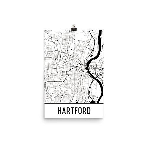 Hartford Connecticut Map - Hartford Print, Hartford Art, Hartford Map, Hartford, Connecticut, Poster, Wall Art, Gift, Decor, Hartford Cityscape, Art Print, Map Art, Map Print (12
