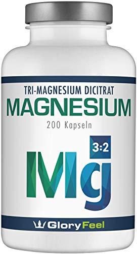 Premium Magnesiumcitrat - Vergleichssieger 2020* - 2400mg Hochdosiertes Magnesiumcitrat pro Tagesdosis - 200 vegane Magnesium Kapseln - Laborgeprüft ohne Zusätze hergestellt in Deutschland