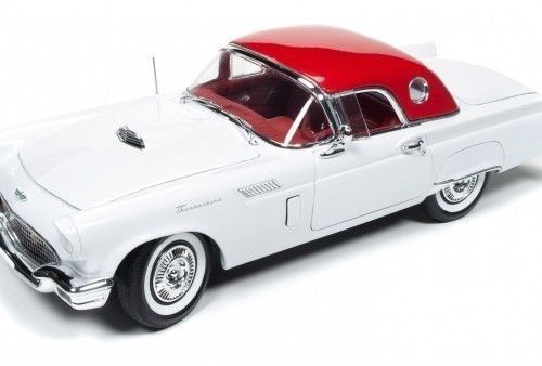 1957 Ford Thunderbird Convertible White 2016 Christmas Edition Issue #3 Limited Edition to 1002pcs and Numbered Chassis…
