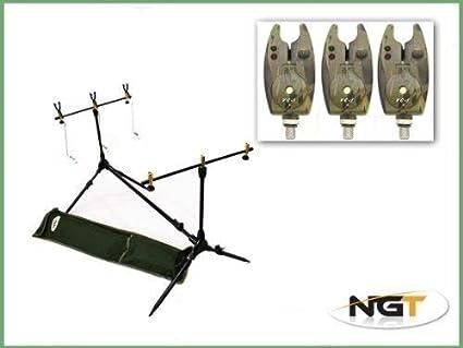 NGT 3 Rod Canne Pêche À La Carpe Rod Pod