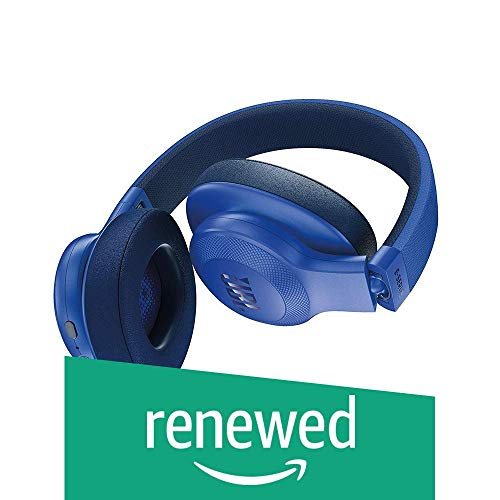 JBL E55BT Over-Ear Wireless Headphones Blue (Renewed)