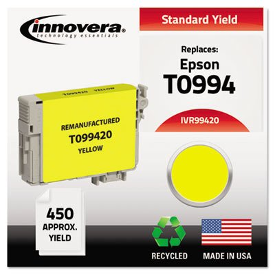 Compatible Remanufactured T099420 (98) Ink, 450 Page-Yield, Yellow (Yellow T099420 Ink)