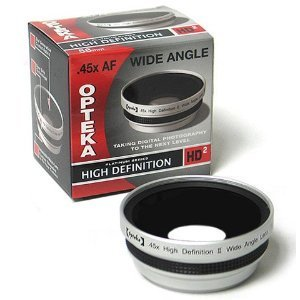 Opteka 0.45x HD2 Wide Angle Lens for Canon VIXIA HF G10, S10, S100, S11, S20, S200, S21, S30, LEGRIA HF S10, S11, S21, XF100, XF105, GL1 and GL2 Digital Video Camera by Opteka
