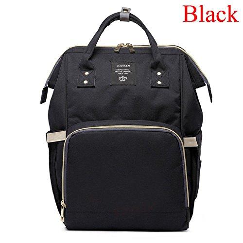 Large Capacity Bag Travel Backpack Nursing Diaper Bag Baby Care Black ()
