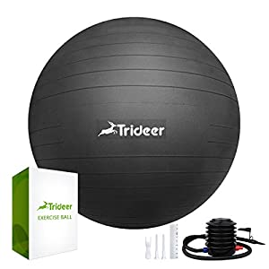 Trideer Exercise Ball (Multiple Colours), 45-85cm Gym Ball Supports 2200lbs, Ball with Quick Pump, Birthing Ball for… 23