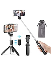 ELEGIANT Bluetooth Selfie Stick Tripod, 4 in 1 100cm Mini Extendable Selfie Stick with Remote and Tripod Stand 360 ° Rotation Suitable for IOS Andriod Phones and other 3.5-6.2 Inches Smartphones