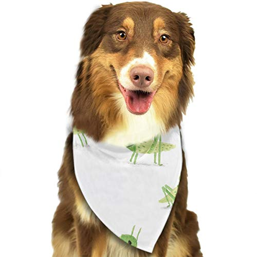 Pet Scarf Dog Bandana Bibs Triangle Head Scarfs Cartoon Locust Accessories for Cats Baby ()