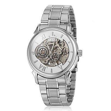 Reloj Esqueleto Acero (grabado calada) analógica - mecánico para hombre: Amazon.es: Relojes