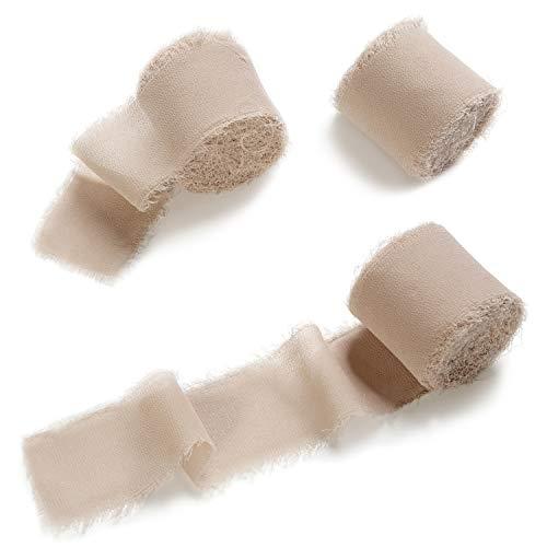 Handmade Wedding Invitation - Ling's moment Handmade Fringe Chiffon Silk-Like Ribbon 1-1/2