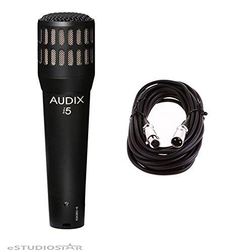 Audix i5 Dynamic Instrument Cardioid Mic w/ 20ft XLR Cable (Dynamic I5 Instrument)
