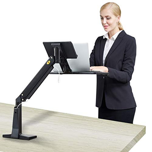 NB North Bayou Sit Stand Laptop Mount Stand Arm Height Adjustable Computer Standing Desk Workstation for 11''-17'' Notebook ()