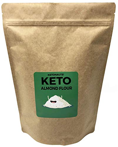 Ketonauts' Keto Flour from High Fat Almonds. Perfect for Baking when on Ketogenic, Paleo, Atkins, Low Carb and Diabetes Diets (Almond Flour, 2lbs)