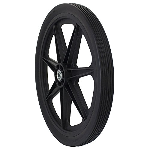 Marathon 20x2.0'' Flat Free Cart Tire on Plastic Rim, 3/4'' Bearing by Marathon Industries