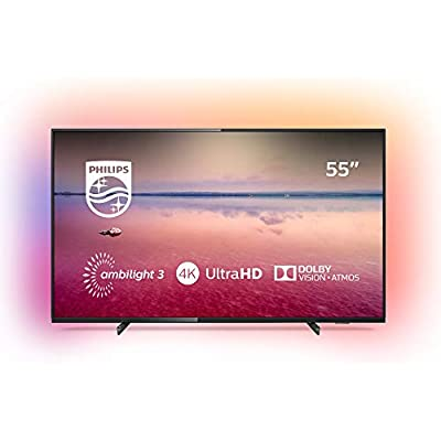 Philips Ambilight 55PUS6704 12 Inch LED Smart  4K UHD  Dolby Vision  Dolby Atmos  HDR 10   Pixel Precise Ultra HD  Saphi Smart TV  Black  2019 2020 Model