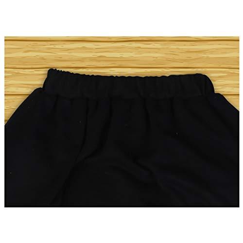 Boys Cotton 2PCS Clothing Sets Kids Long Sleeve Top Pant Set (12-13 Years/Tag 160, Black T-Shirt + Black Pant) by Haoguagua (Image #5)