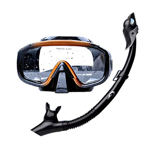 GVFGYJ Goggles Set Swimming Mask Diving Goggles Snorkel Silicone Waterproof Anti-Fog Suitable for Swimming Professionals (Color : 1)