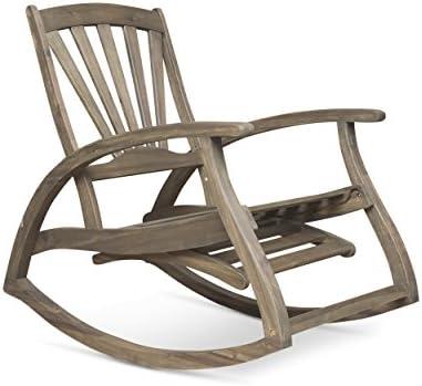 Editors' Choice: Christopher Knight Home 305228 Alva Outdoor Acacia Wood Rocking Chair