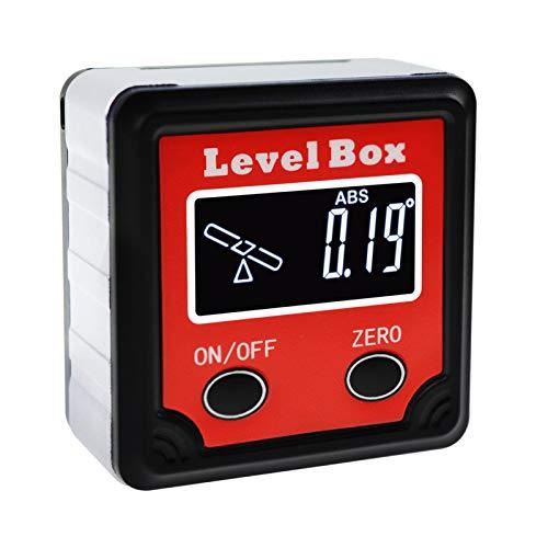 Level Eye Finder - Digital Bevel Box 360° (4 x 90°) Angle Finder w/Tilt Direction Indicator, Protractor Level Gauge Magnetic Base, Inclinometer Cube Meter Measurement Tool for Woodworking Installation