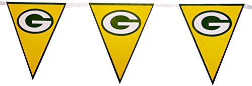 Amscan Green Bay Packers Collection Pennant Banner, Party Decoration, 6 Ct. -