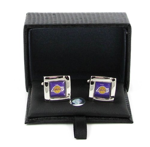 NBA Los Angeles Lakers Sports Team Logo Square Cufflinks Gift Box Set by aminco