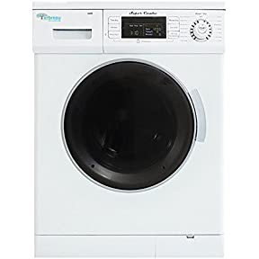 Arbreau 1.6 Cu.Ft Compact New Combination Washer and Dryer AW4400 CV White with convertible Venting/Condensing Drying with Automatic Water Level and Sensor Dry most suitable for Tiny houses.