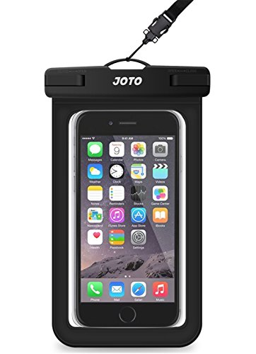 "Universal Waterproof Case, JOTO Cellphone Dry Bag Pouch for iPhone X, 8/7/7 Plus/6S/6/6S Plus, Samsung Galaxy S9/S9 Plus/S8/S8 Plus/Note 8 6 5 4, Google Pixel 2 HTC LG Sony MOTO up to 6.0"" – Black"