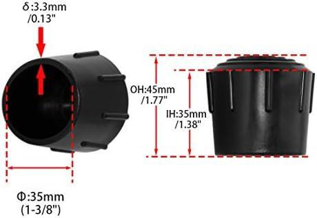 8 x Chair Table Leg Foot Covers Floor Protectors Cap Anti-Slip 35mm ID