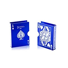 Metal Bicycle Playing Card Clip Deck Protector Case Trick Magic Predict-BLUE CJ452