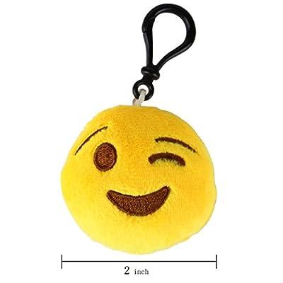 "Oliasports 16 Pack 2"" Emoji Plush Handbag KeyChain by Oliasports"