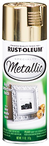 Rust-Oleum 1910830-6 PK Specialty Metallic 1910830 Spray Paint 11 oz, Gold, 6-Pack, ()