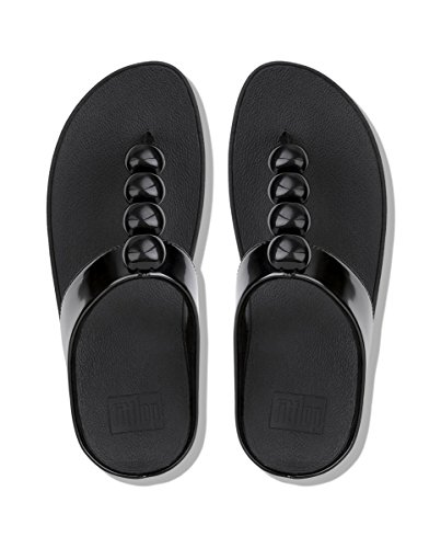 Fitflop Rola, Chanclas Para Mujer Black