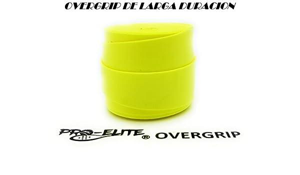 overgrip Pro Elite Premium Liso Amarillo Flúor: Amazon.es ...