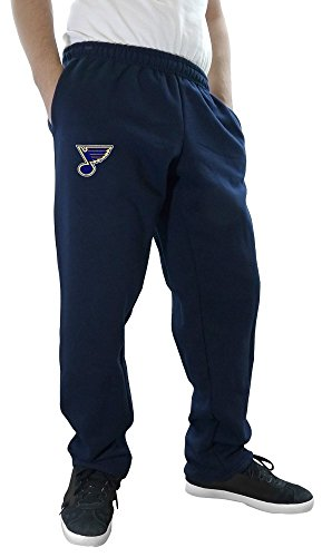 Blue Team Fleece Sweatpants - NHL Men's Official Team Sweatpants (X-Large, St. Louis Blues)