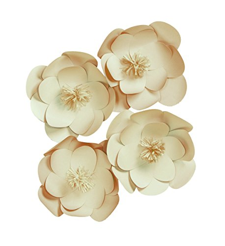 Darice Wall Décor Kit, Natural paper Flower, 84 Pieces