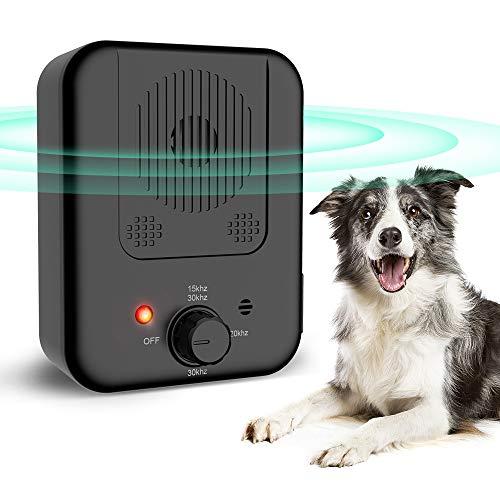 ultpeak Anti Barking Device, Sonic Stop Barking Device with 4 Adjustable Levels for 50 Feet Effective No Dog Bark, Dog…