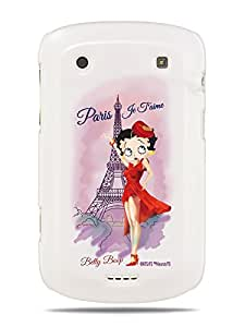 GRÜV Premium Case - 'Paris Je T'aime by Betty Boop' Design - Best Quality Designer Print on White Hard Cover - for Blackberry Bold Touch 9900 9930