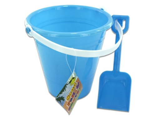 bulk buys Solid Colored Beach Pail with Shovel by bulk buys